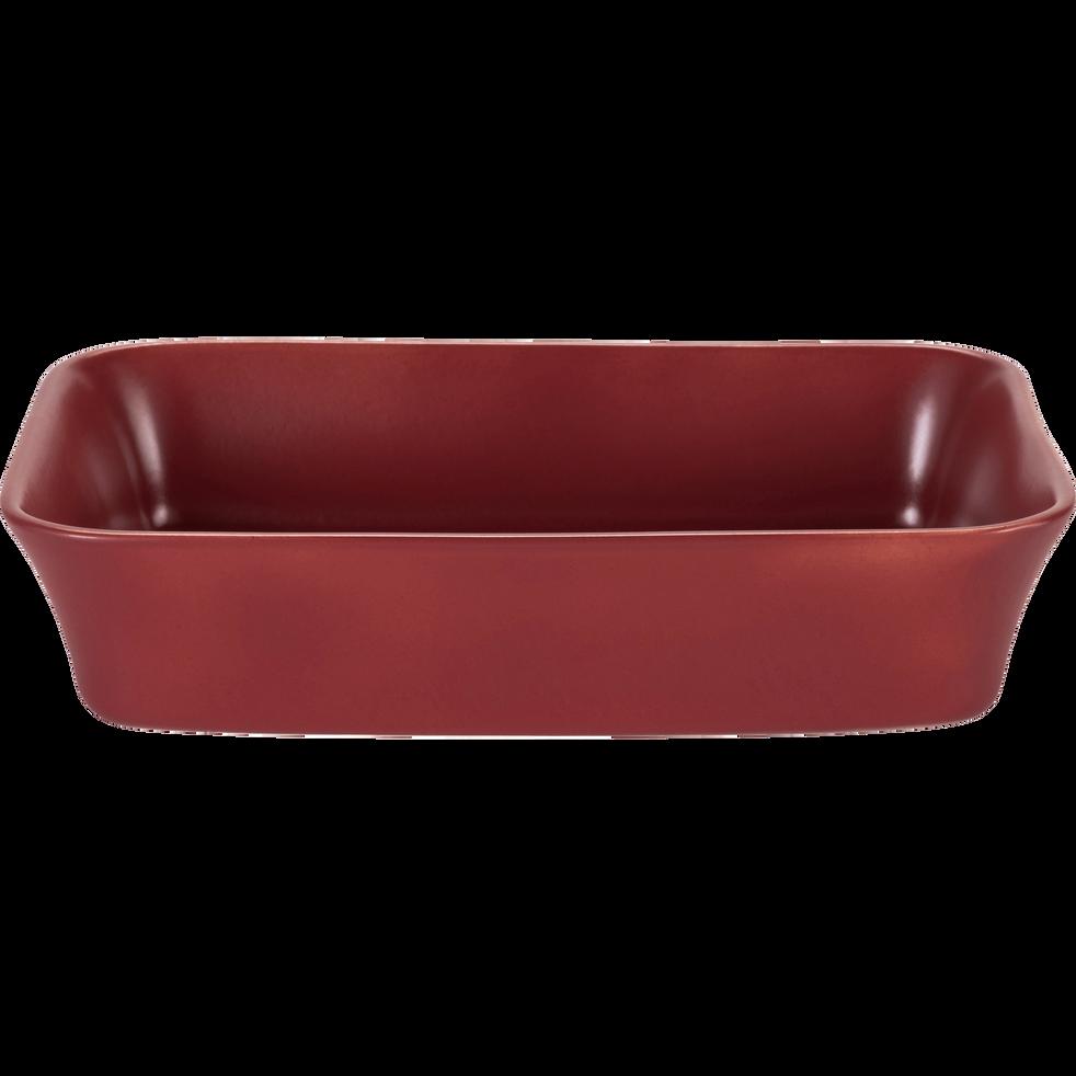 Plat à four rectangulaire en grès rouge sumac 32x20cm-ALVARA