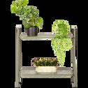 Support plante en acier vert cèdre L65xH64,5x29cm-ERBA
