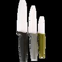 Lot de 3 couteaux de cuisine vert-CERA