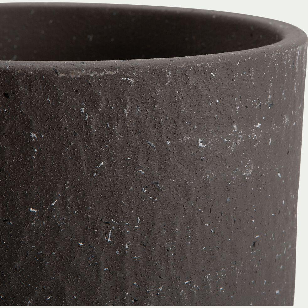 Pot en terre cuite - H18xD20cm gris-PIETRALBA