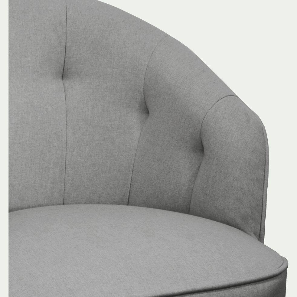 Fauteuil en tissu sunday gris borie-MARCELLIN