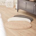 Tapis de bain 40x60cm uni blanc ovale-OVO