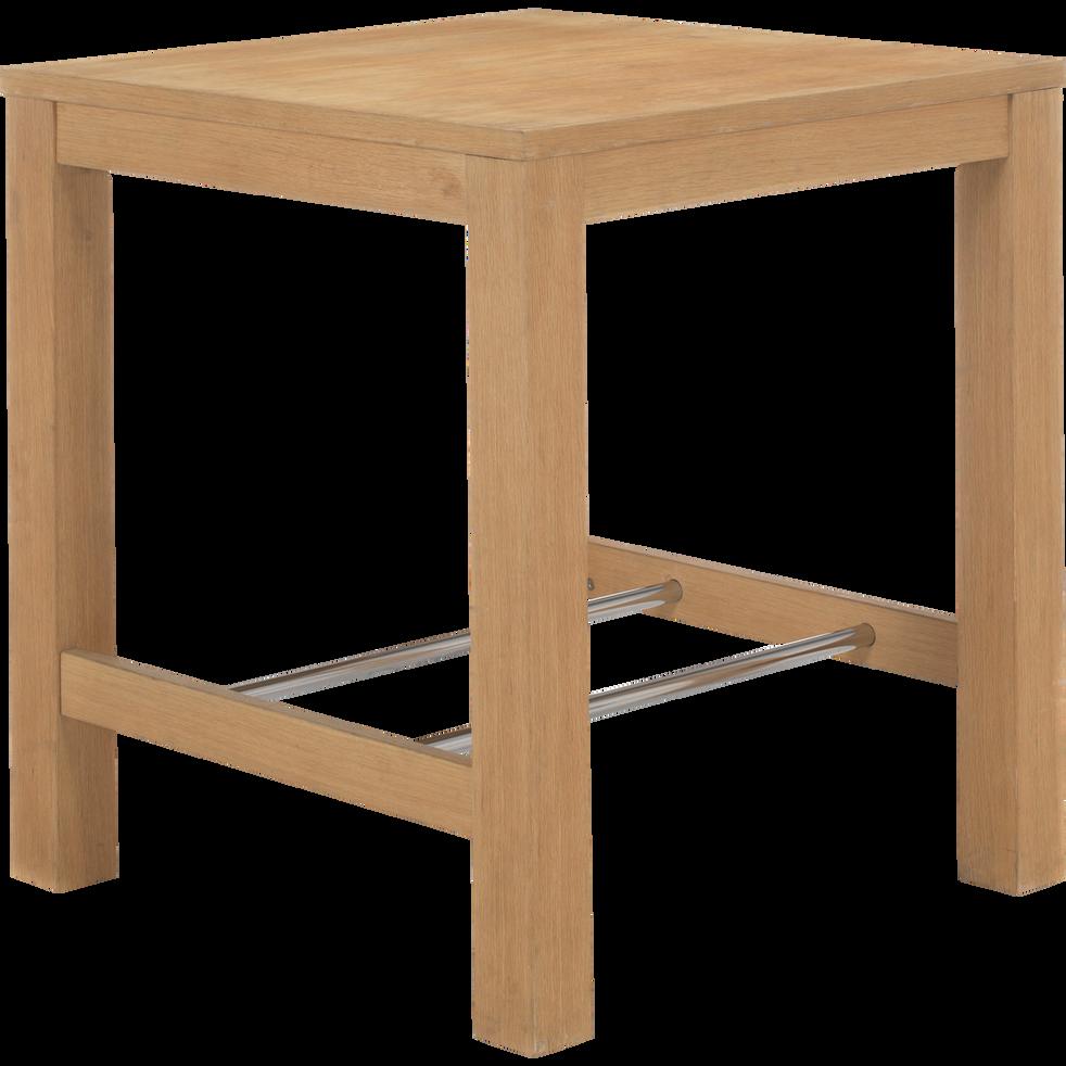Table de repas haute carr e 80x80cm bonnie 80x80 tables hautes alinea - Table cuisine alinea ...