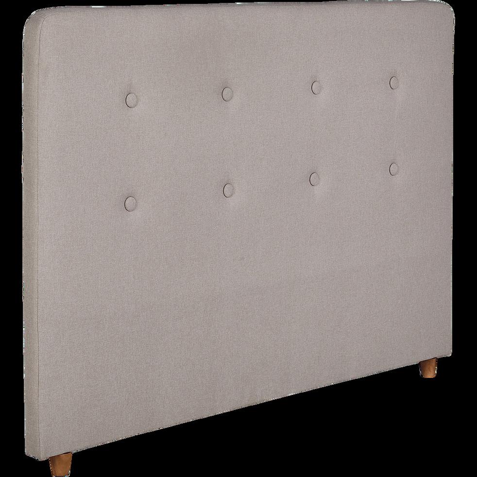Tête de lit recouvert de tissus Gris foncé 140cm-FLO