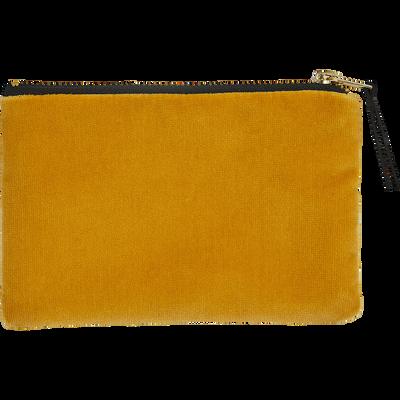 Pochette en coton jaune 16x10,5cm-HANOI