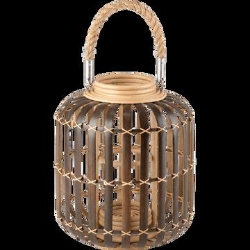Lanterne en bambou marron H35cm-Parpello