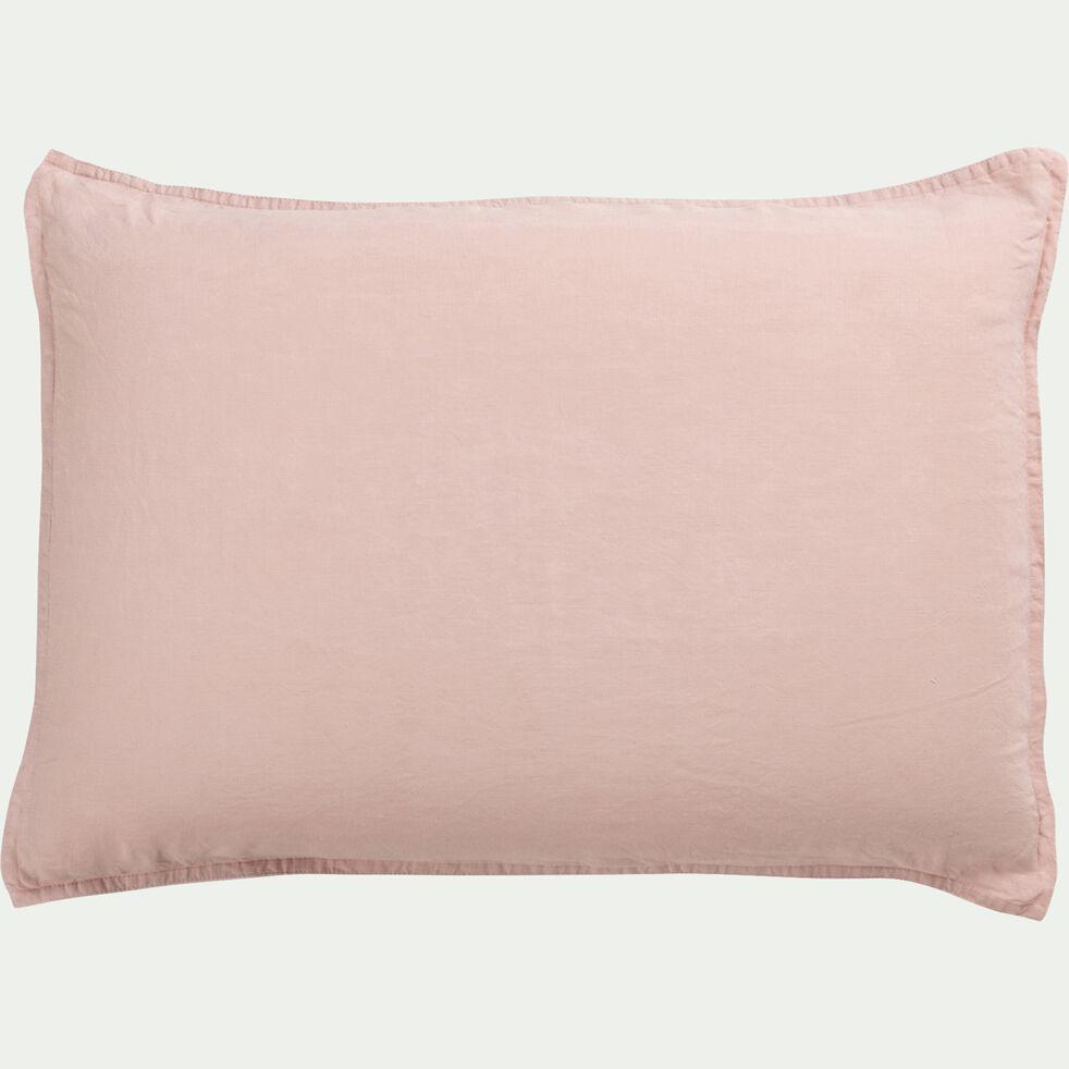 Lot de 2 taies d'oreiller en lin - rose rosa 50x70cm-VENCE