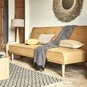 Banquette 3 places convertible en tissu - jaune argan-FEZZANO