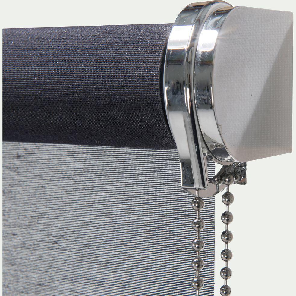 Store enrouleur voile - gris anthracite 120x250cm-VOILE