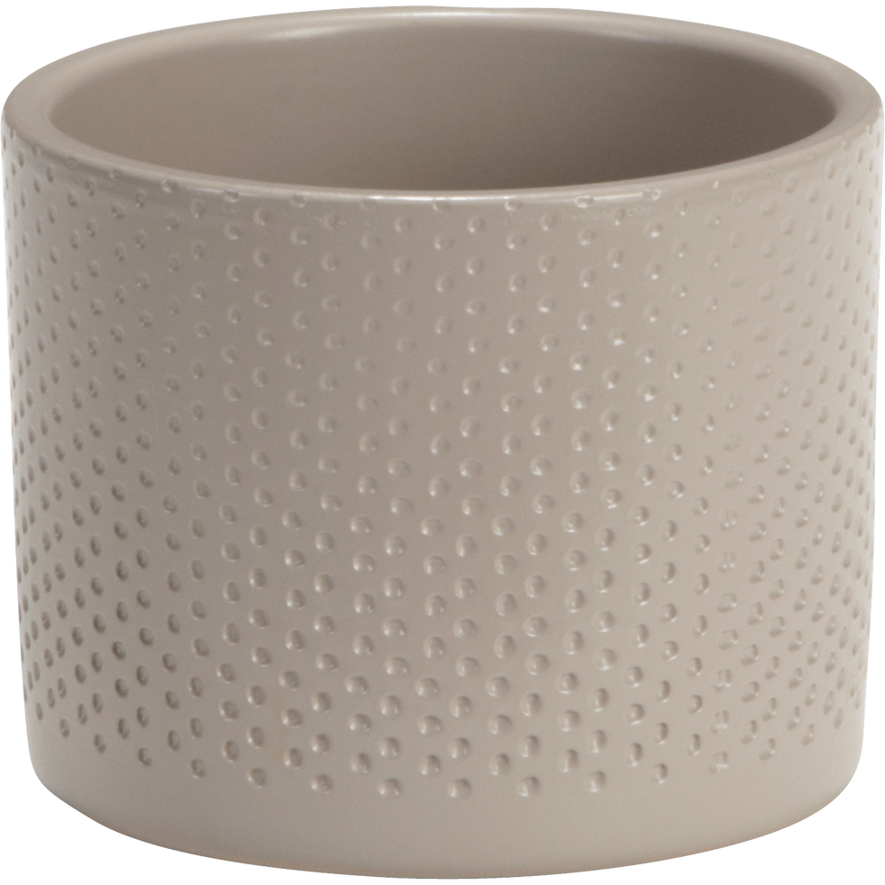 Cache-pot taupe en céramique (plusieurs tailles)-ERA