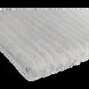 Serviette en viscose et coton 50x100cm gris borie-AUBIN
