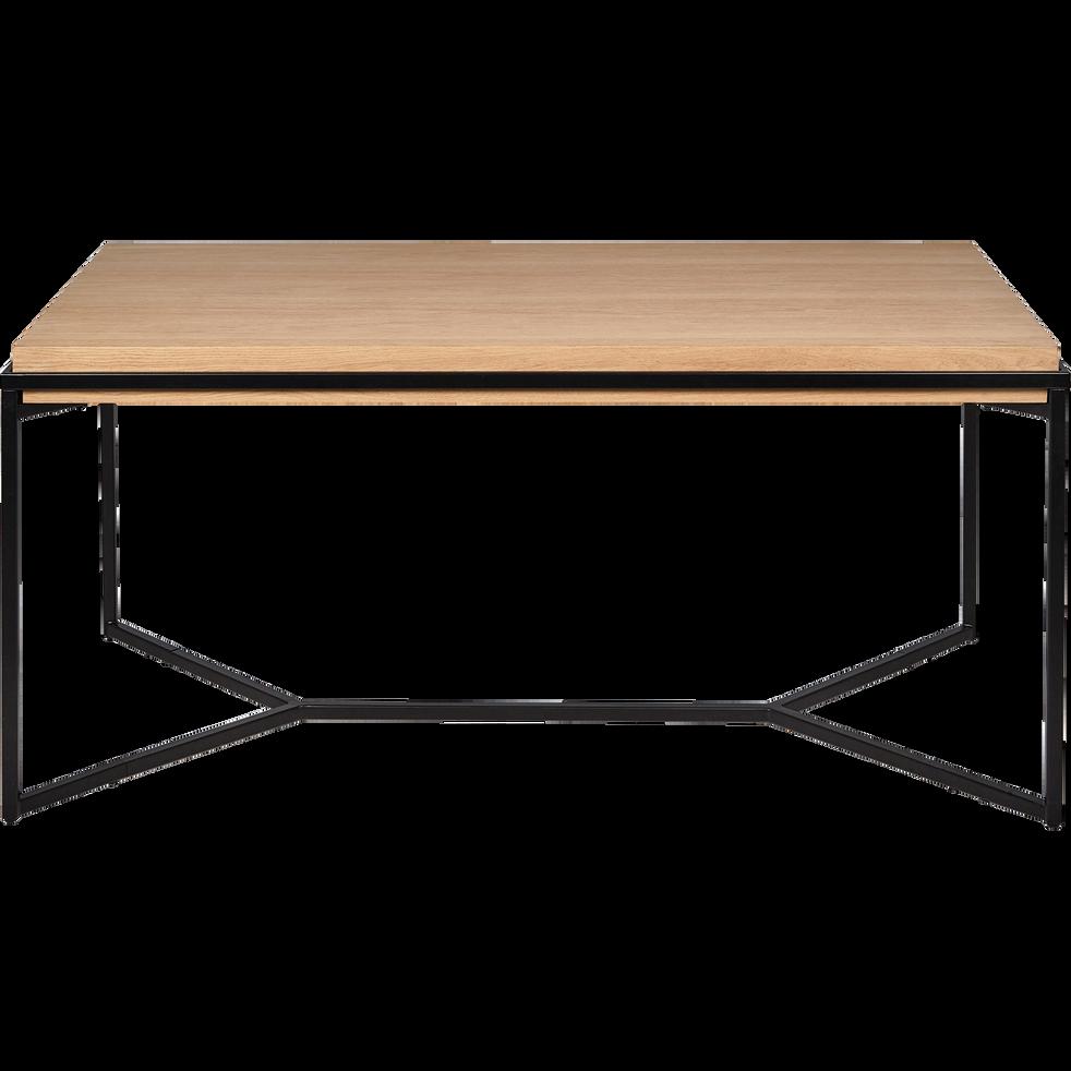 CESARINE - Table de repas rectangulaire bois et acier - 6 places