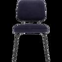 Chaise velours bleu myrte-LUCY