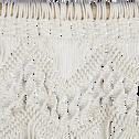 Décoration murale en coton blanc H120x50cm-MACRAME