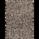 Tapis en cuir gris anthracite 200x300cm-LAYAN