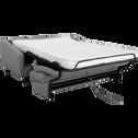 Canapé 3 places convertible en tissu gris borie-VALENT