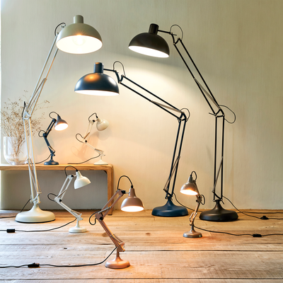 Lampe en métal blanc H65x12cm-XXL