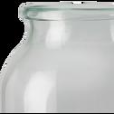 Vase en verre vert  D18xH52cm-AJJA
