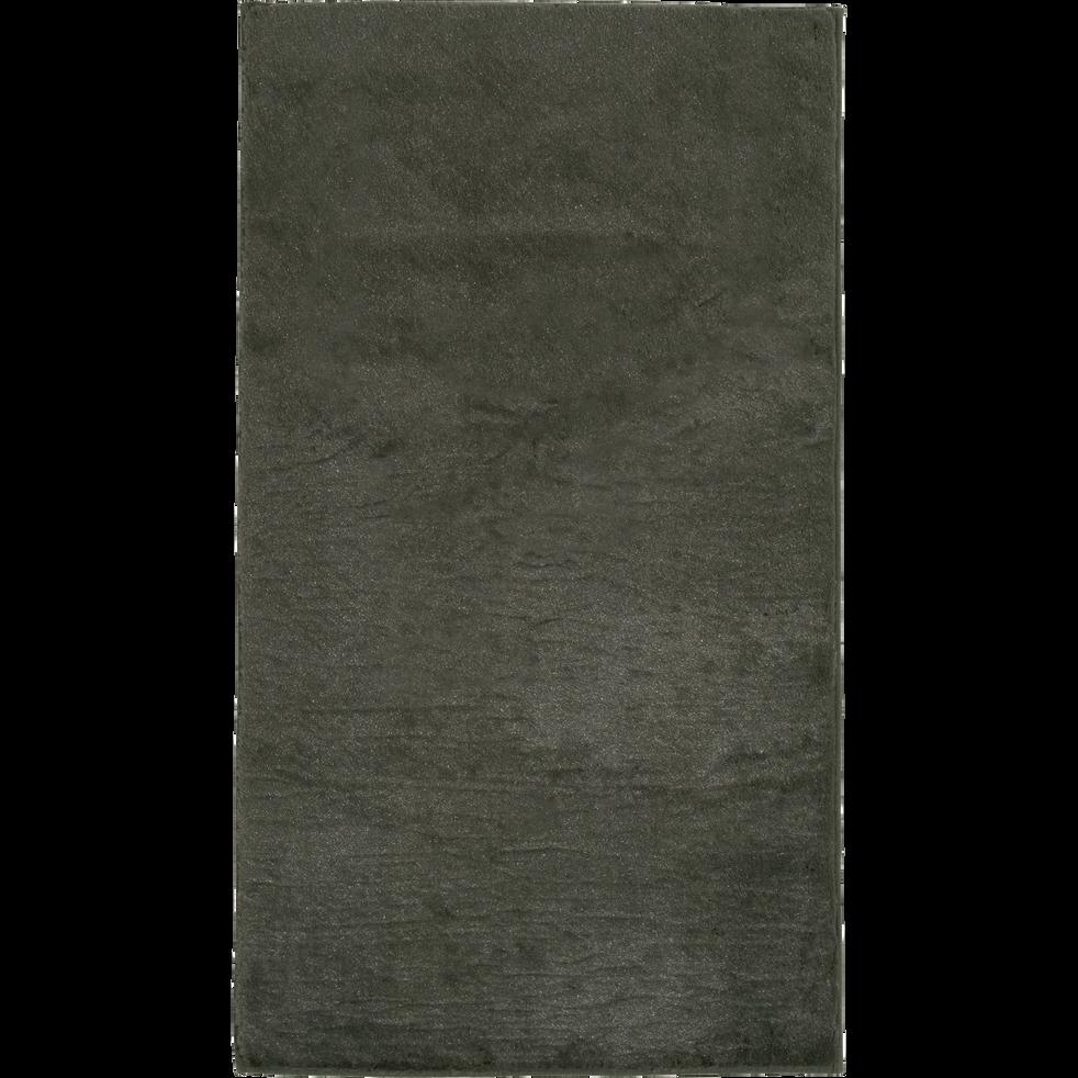 Tapis imitation fourrure vert cèdre 60x110cm-ROBIN