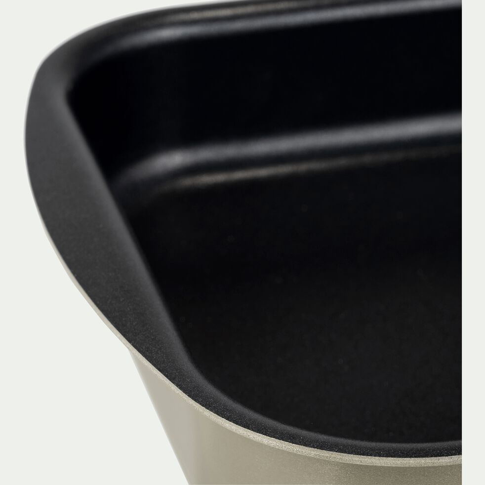 Plat à four rectangulaire en aluminium gris calabrun 25x35cm-PINTO