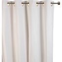 Rideau en velours côtelé blanc capelan 140x250cm-ODIN