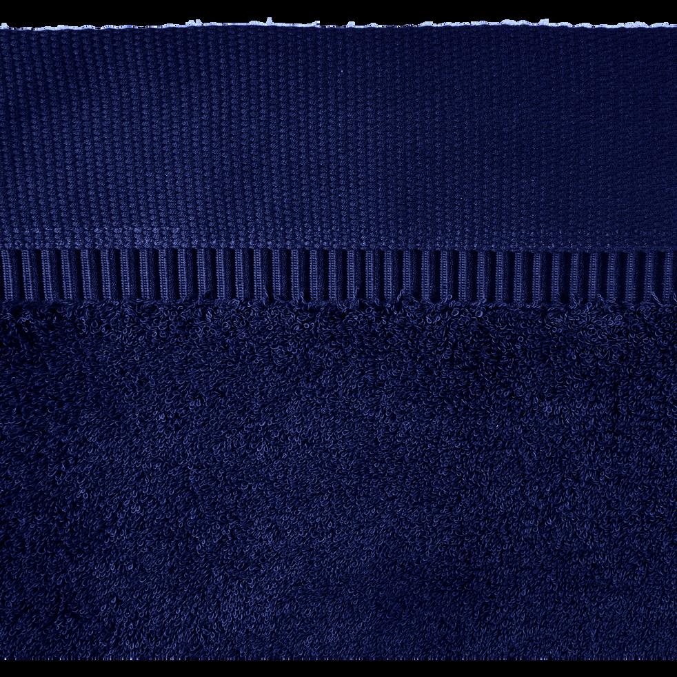 Lot de 2 gants de toilette bleu myrtre-ARROS