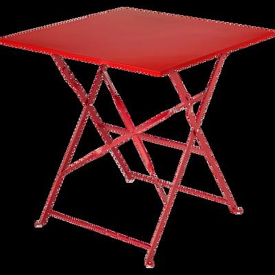 Table de jardin pliante rouge L70cm (2 places)-PIMS