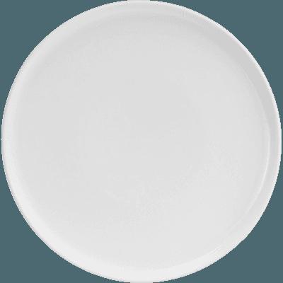 Assiette plate en porcelaine blanc nougat D26cm-LANAU