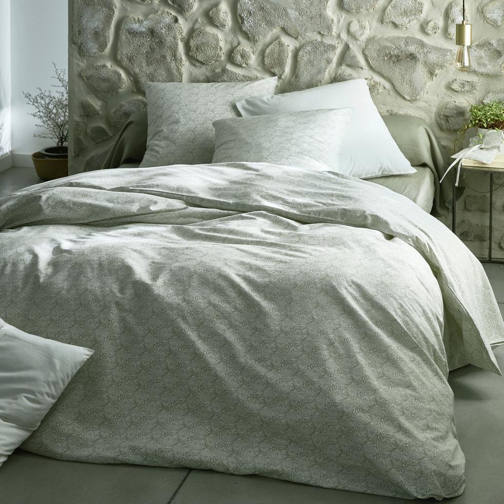 Housse de couette en coton motif Amande - 240x260 cm-CIGALO