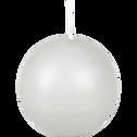 Bougie ronde gris borie D6cm-HALBA