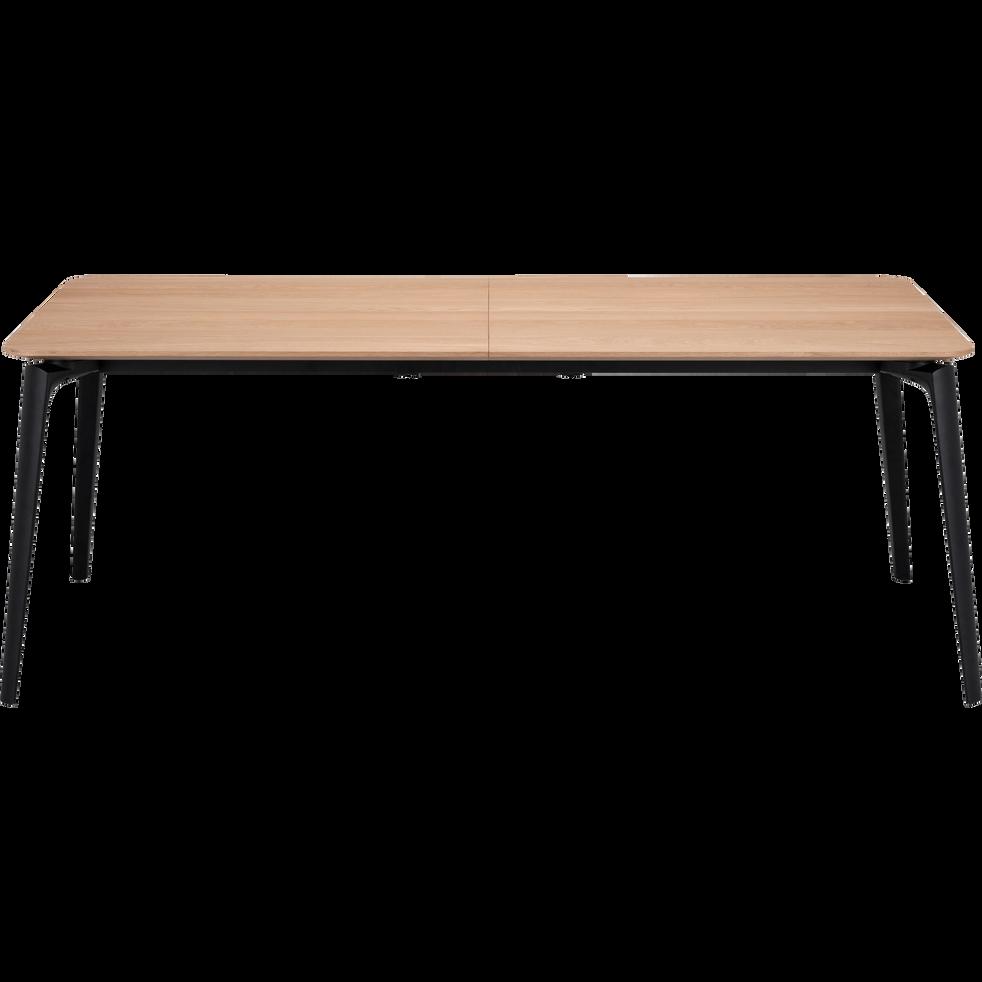 e4044070a9afb7 Table de repas extensible plaquée chêne - 6 à 12 places - CALLISTINE ...