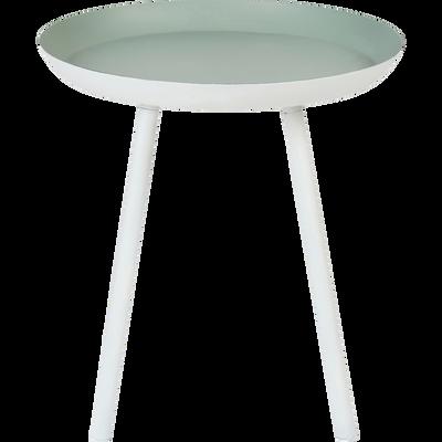 Bout de canapé en acier vert olivier-SOUFIO