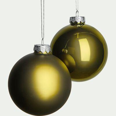 Lot de boules en verre vertes 4 pièces D10cm-Lawan