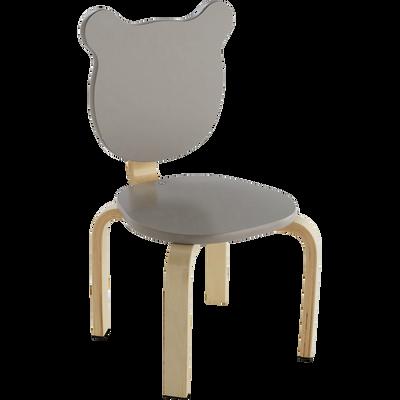 Chaise Forme Ours Couleur Taupe Pour Enfant LOU
