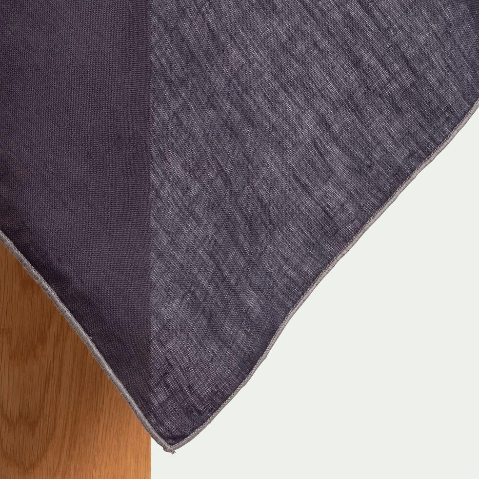 Nappe en lin et coton gris calabrun 170x170cm-MILA