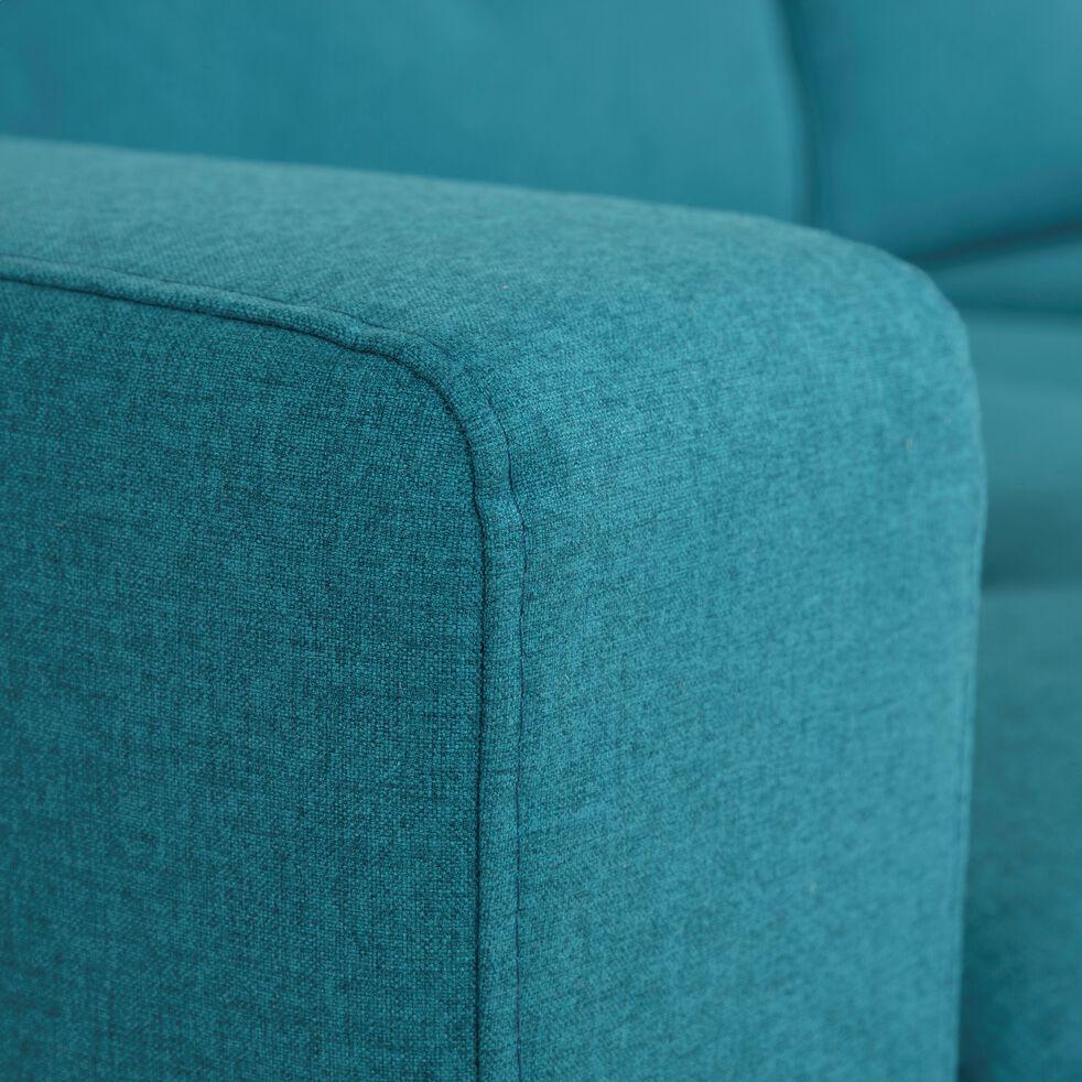 Canapé convertible 3 places en tissu avec têtière réglable - bleu-ODYS