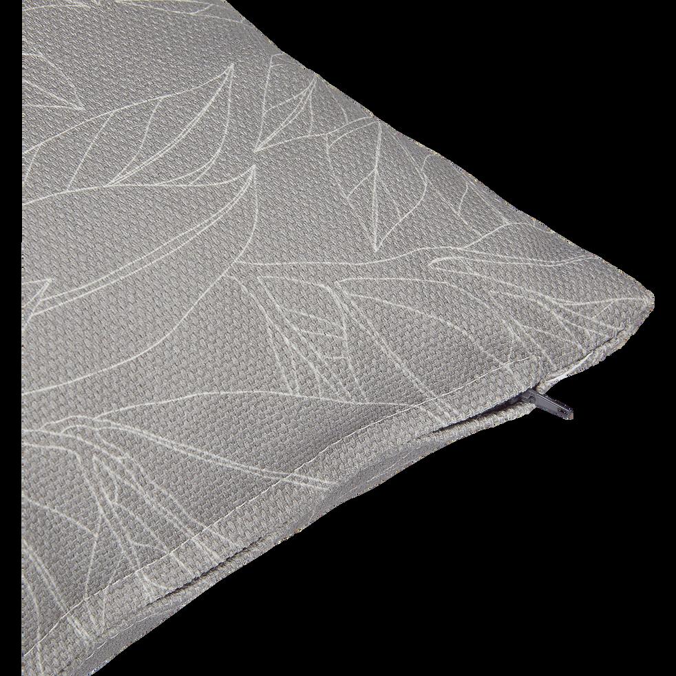 Coussin d'extérieur déperlant gris borie 40x40cm-Trayas