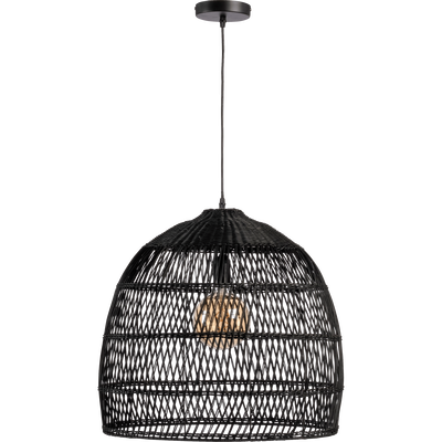 Suspension en rotin noir D46cm-MATHILDA