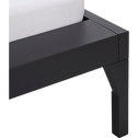 Lit 1 place en acier Noir - 90x200 cm-LOFTER
