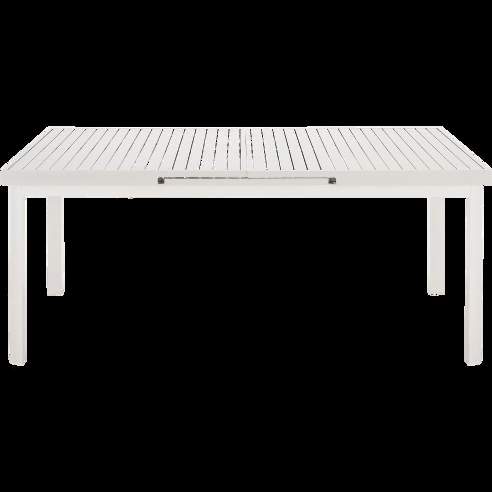 LORETO - Table de jardin extensible en aluminium blanc (10 places)