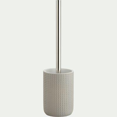 Balai et porte-balai WC en polyrésine - gris borie-LOUBET