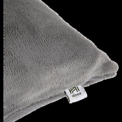 Housse de coussin effet doux gris restanque 40x40cm-ROBIN