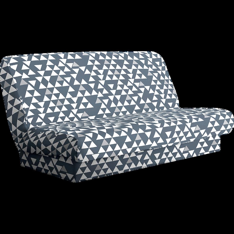 housse pour clic clac motifs g om triques gris housse housses de clic clac et bz alinea. Black Bedroom Furniture Sets. Home Design Ideas