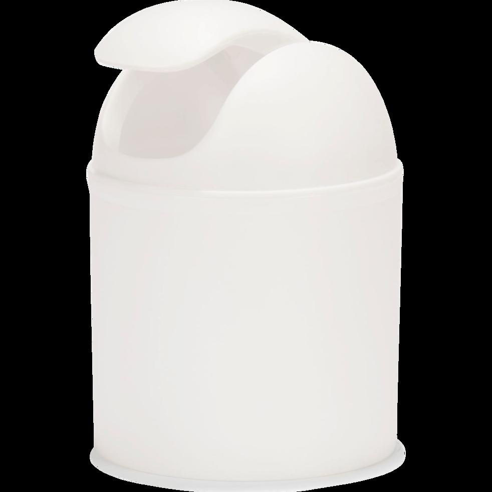Poubelle blanche 20cm D13.5cm-One