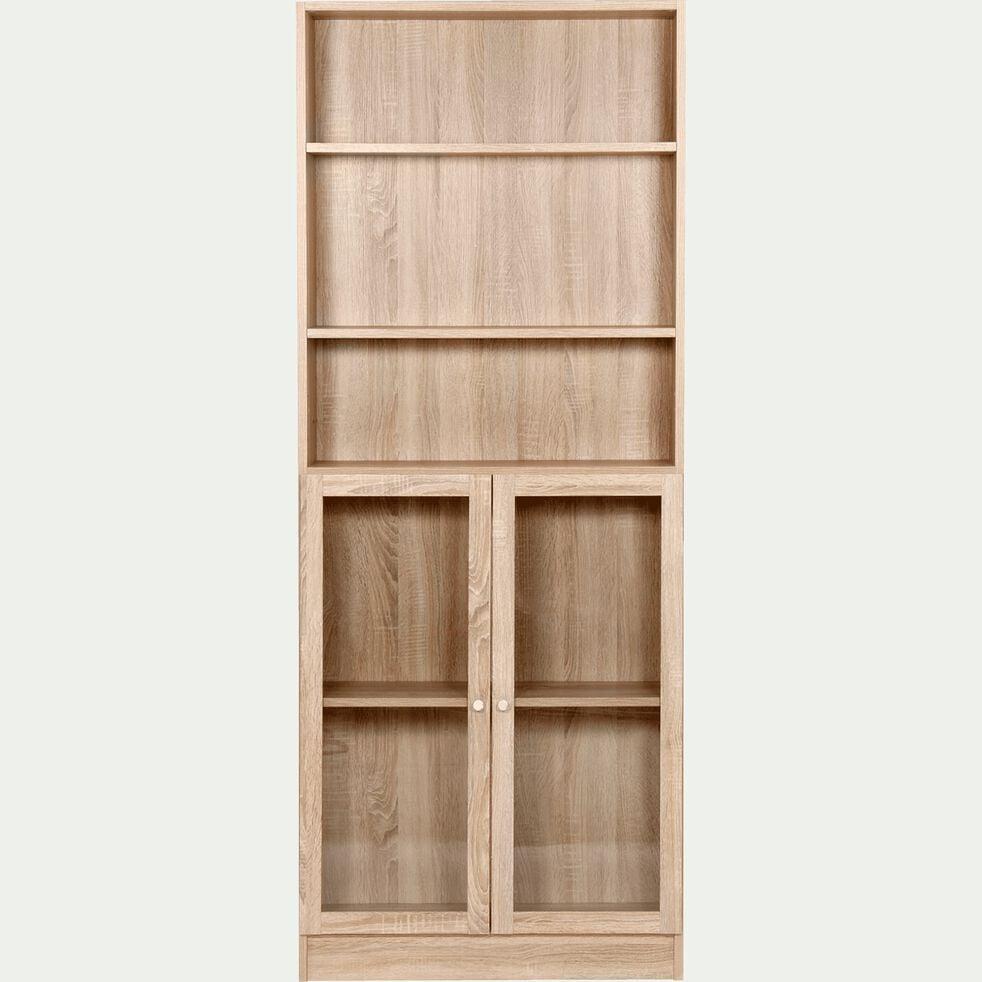 Bibliothèque en bois - chêne H203cm-BIALA