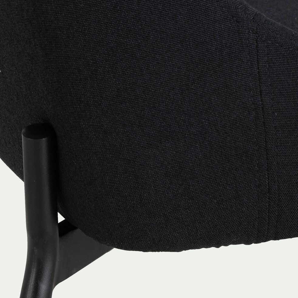 Chaise en tissu noir calabrun-TINOU