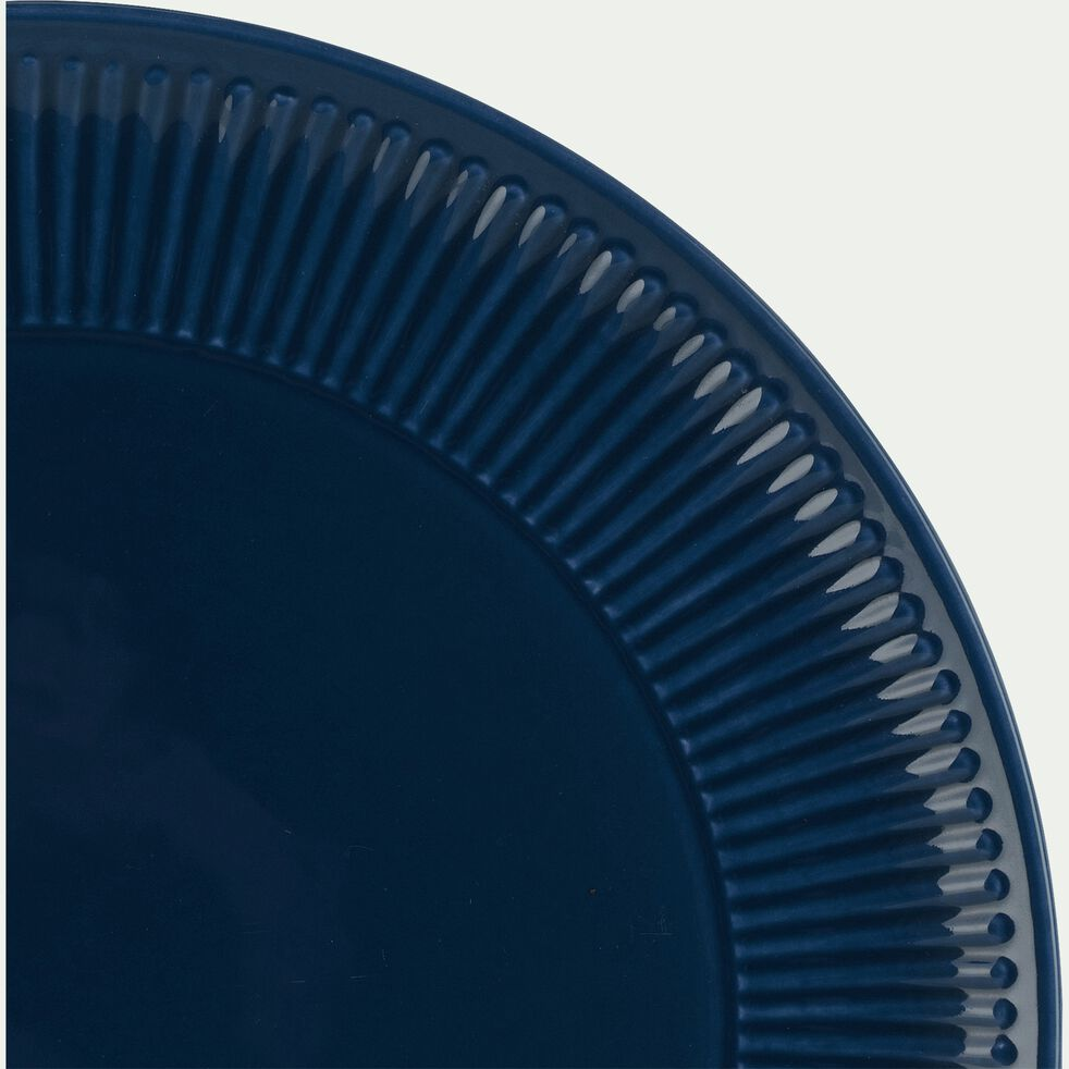 Assiette plate en faïence D27cm - bleu figuerolles-MORA