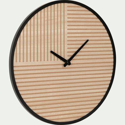 Horloge en bois à motifs D40cm-KOBA