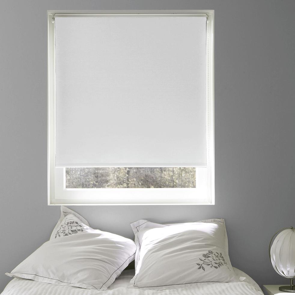 Store enrouleur occultant blanc 80x190cm-OCCULTANT