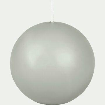 Bougie ronde vert olivier D10cm-HALBA